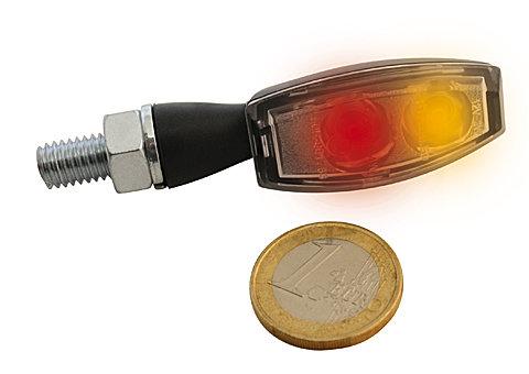 LED Ruecklicht/Blinker BLAZE, schwarz, Klarglas