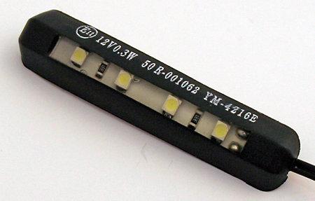 4-LED-Nummernschildbeleuchtung, biegsam, schwarz