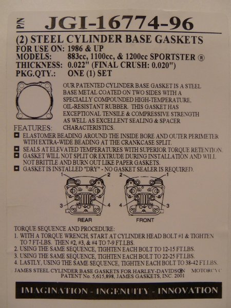 2er-Set Zylinderfußdichtung Metall RR und XB alle