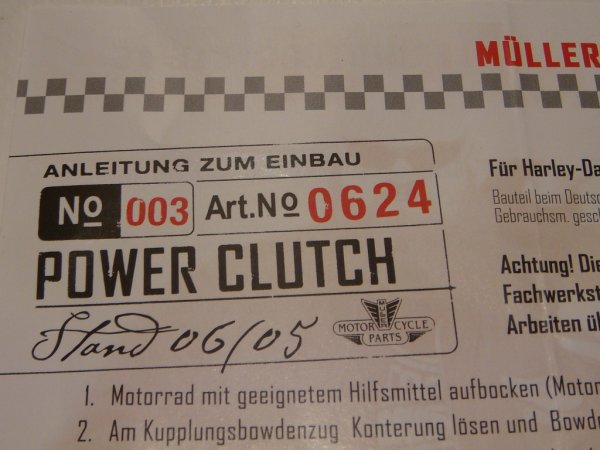 Müller power clutch for all Buell tubeframe and XB models