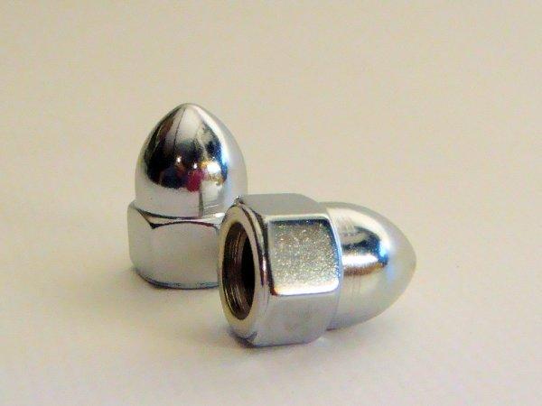 Chrome acorn nuts 3/8-24