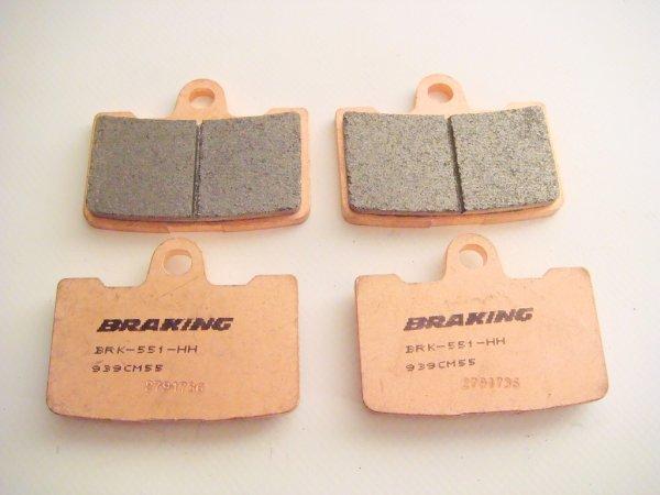 Braking brake pads for Buell 1125 und XB models with ZTL2 caliper