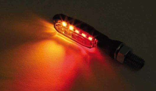 LED taillight/Indicator BLAZE, black, smoke Lens