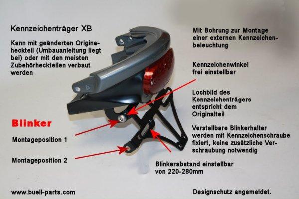 Kennzeichenhalter inkl. Umbauanleitung XB auf Kurzheck