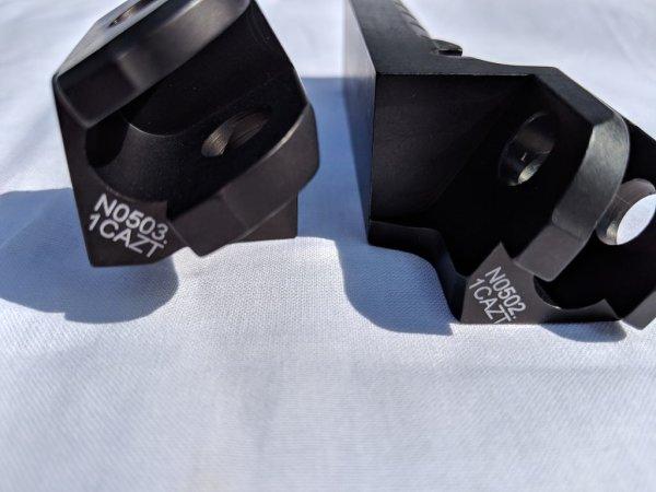 Schwarze Fahrer-Fußrasten Buell XB/R/S/SS/STT  1125R/CR rechts+links