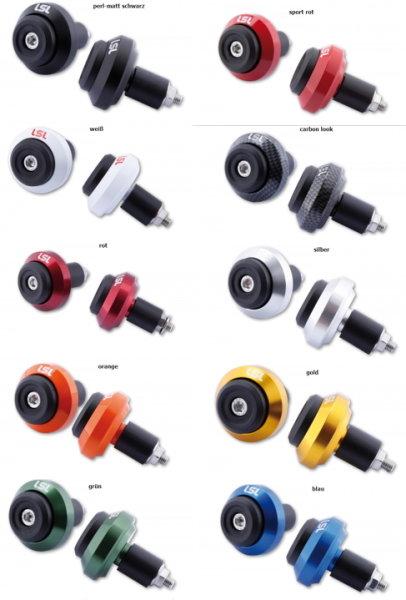 LSL Crash Balls, Achsprotektoren, alle XB-Modelle, hinten, versch. Farben