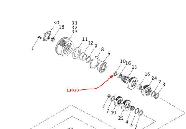 Dichtungssring, Getriebeausgangswelle, alle XB9/12 und Rohrrahmen