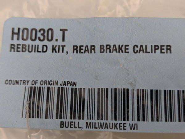 Reparaturkit, hintere Bremszange, Buell XB9/12 02-10