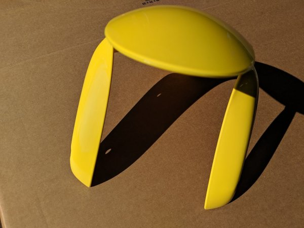 Frontfender, sunfire yellow