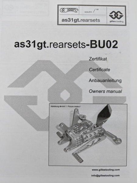 Gilles Fußrasten Buell XB S- und R Modelle