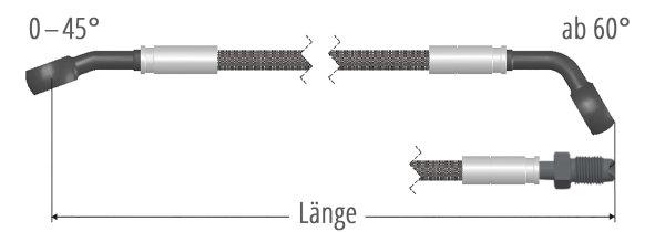 Stahlflex-Bremsschlauch Einzelanfertigung