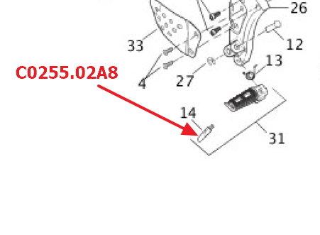 OEM Angstnippel Verschleisspitze Fußraste Buell XB9/12