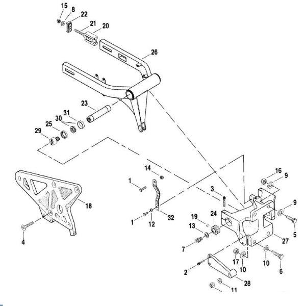 Rear isolator mount RH
